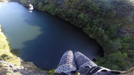 A shot from on the zipline  Picture of Adrenalin Quarry