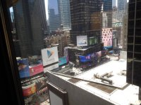 balcony view - Picture of New York Marriott Marquis, New ...