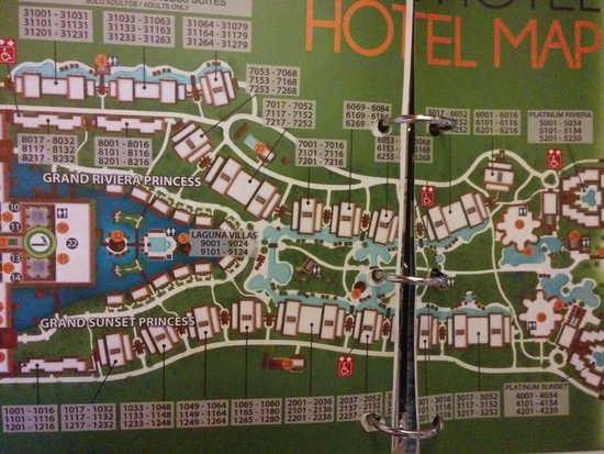 Riviera All Suite Grand Resort Princess Maya Map Sunset