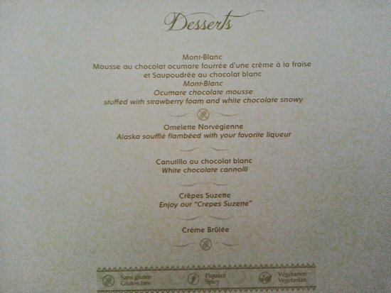 LAlsace Menu Picture Of Valentin Imperial Riviera Maya