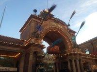 Entrance gate (Halloween decoration) - Picture of Tivoli ...
