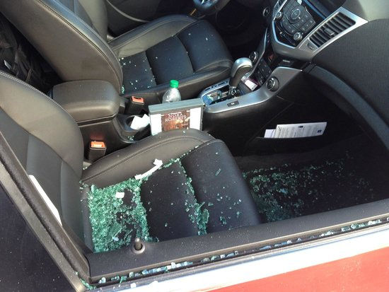 Broken Glass Inside Vehicle Picture Of Holiday Inn