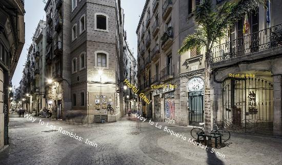 Ramelleres Street Picture Of Hostal Grau Barcelona