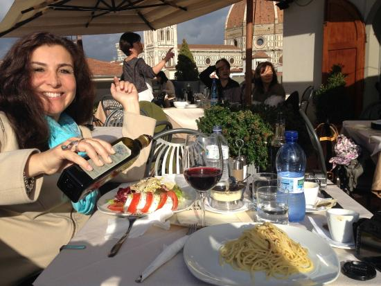 Vista dal terrazzo  Picture of Caffe La Terrazza Florence  TripAdvisor