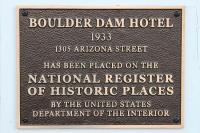 Historic plaque by front door - Picture of Boulder Dam ...