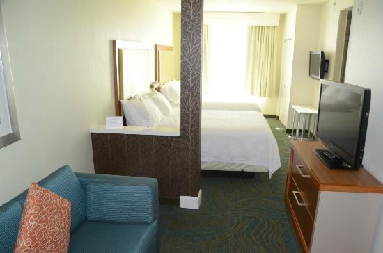 comfortable affordable sofa beds braxton sectional inside the hotel room, two queen size beds, tvs & a ...