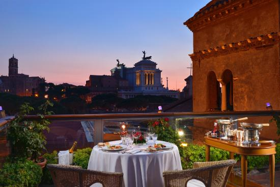 Ristorante Roof Garden Hotel Forum Roma Rome  Monti