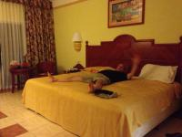 Biggest king sized bed ever...all one mattress too. Room ...
