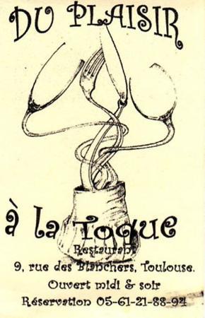Du Plaisir à La Toque : plaisir, toque, Carte, Visite, Photo, Plaisir, Toque,, Toulouse, Tripadvisor