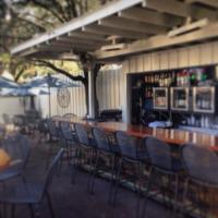 Outside Patio Bar with heaters and fans! - Picture of ...
