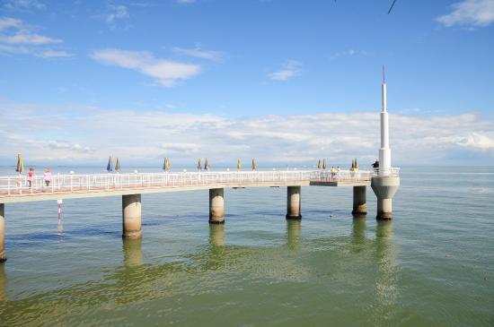 Il pontile di Terrazza a Mare a Lignano Sabbiadoro