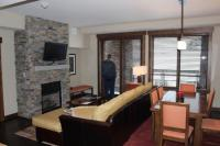 Living Room/ odd layout. - Picture of Trailhead Lodge ...
