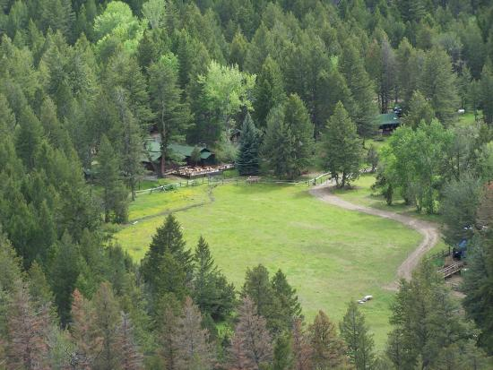Aerial Wyoming Ranches View