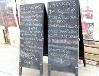 pizarrones con menues Restobar em Rosário