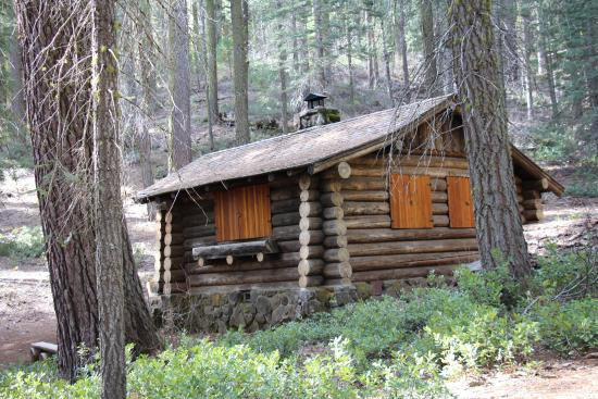 historic Superintendents cabin  Picture of Merced Grove