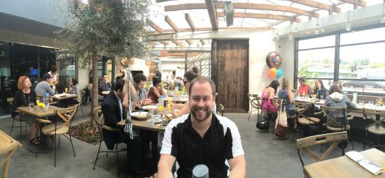 Dining outside in the Atrium  Picture of Madera Kitchen  Bar Los Angeles  TripAdvisor