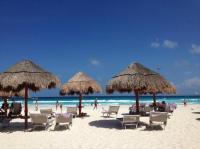 Beach chairs/sand volleyball area - Picture of Paradisus ...