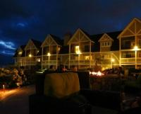 Courtyard with fire pits at night - Picture of Carlsbad ...