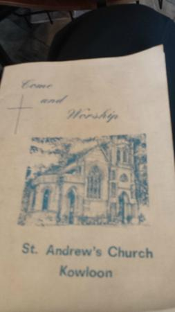 Church Program Front Page - Picture of St Andrew's Church, Hong Kong ...