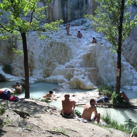 il fosso bianco diventa cascata  Picture of Fosso Bianco  Bagni San Filippo Bagni di San