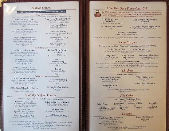 Lees Inlet Kitchen Murrells Inlet  Menu Prices