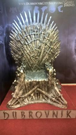 iron throne chair soft bean bag dubrovnik city shop traveller reviews tripadvisor