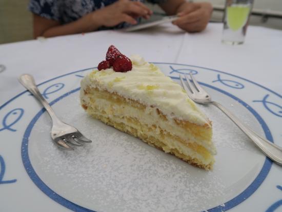 lemon cake  Picture of Ristorante Bagni Delfino Sorrento  TripAdvisor