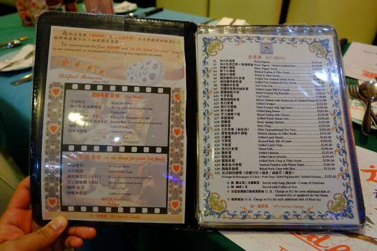 Goldfinch Restaurant - Menu - Picture of Goldfinch Restaurant, Hong ...