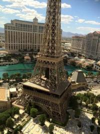 The Eiffel Tower view from our room - Picture of Paris Las ...