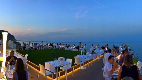 La terrazza al tramonto  Picture of La Torre Ristorante Numana  TripAdvisor