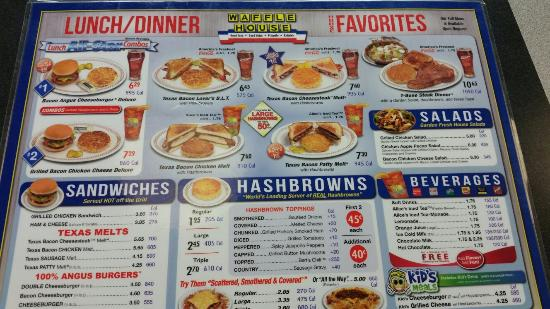 Waffle House Menu Prices