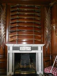 Guns over the fireplace in the Governor's Palace ...