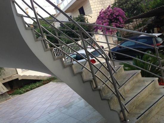 The Outside Stairs Leading To 2Nd Floor Rooms Picture Of Cocoon   Building Outside Stairs To Second Floor   Handrail   Metal Staircase   Stair Treads   Stairs Leading   Spiral Stairs