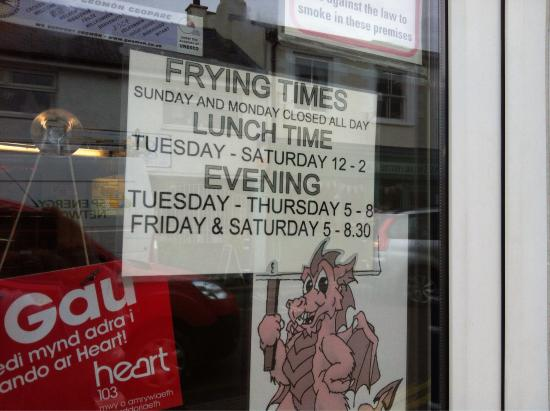 Fish Shop Opening Times
