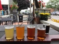 Beer samples on patio - Picture of Northport Brewing now ...