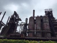 Rusted blast furnaces at Bethlehem Steel