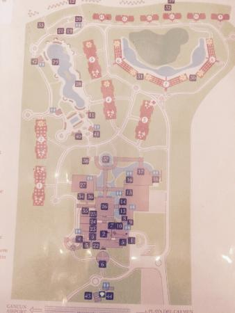 Map Of Resort Picture Of Valentin Imperial Riviera Maya