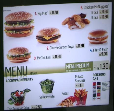 McDonalds Montreux  place du Marche 6B  Ristorante Recensioni Numero di Telefono  Foto