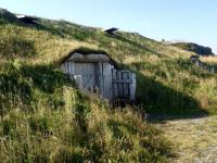 Building built into hill at L'Anse aux Meadows - Picture ...