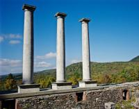 Columns at the mansion ruins - Picture of Ashintully ...