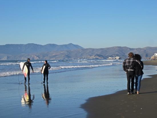 ocean beach plage de sf est sauvage