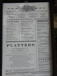 Menu - Picture of Moonshine Patio Bar & Grill, Austin ...