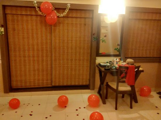 Sandalwood Hotel Retreat Premium Room With Decorations For Anniversary