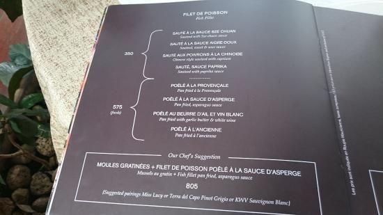 La Me Restaurant Menu