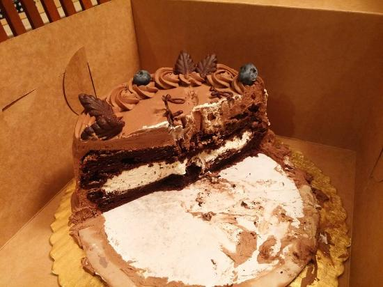 Whats Left Of My Amazing Mocha Souffe Bday Cake Picture Of Hot