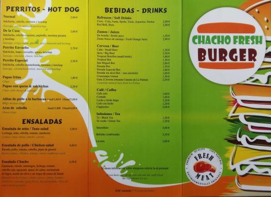 Pruebalo! Try it! - Picture of Chacho Fresh Burger. Playa Blanca - TripAdvisor