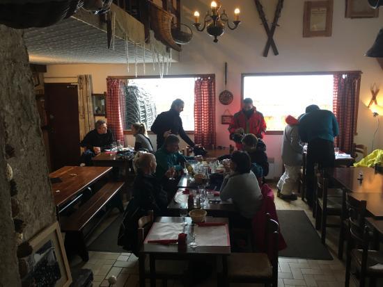 Restaurant Le Perce Neige From The Upper Floor