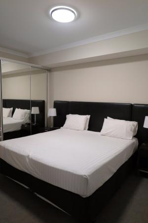 Baileys Serviced Apartments King Size Bed Combined With Two Single Mattress