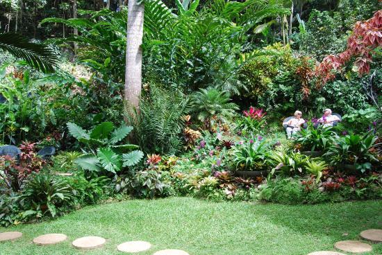 relaxing in beautiful tropical