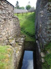 water channel that used to drive a water wheel ...